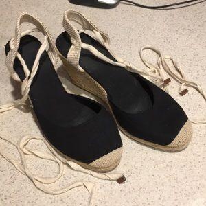 ASOS Black espadrilles; size UK 6/US8